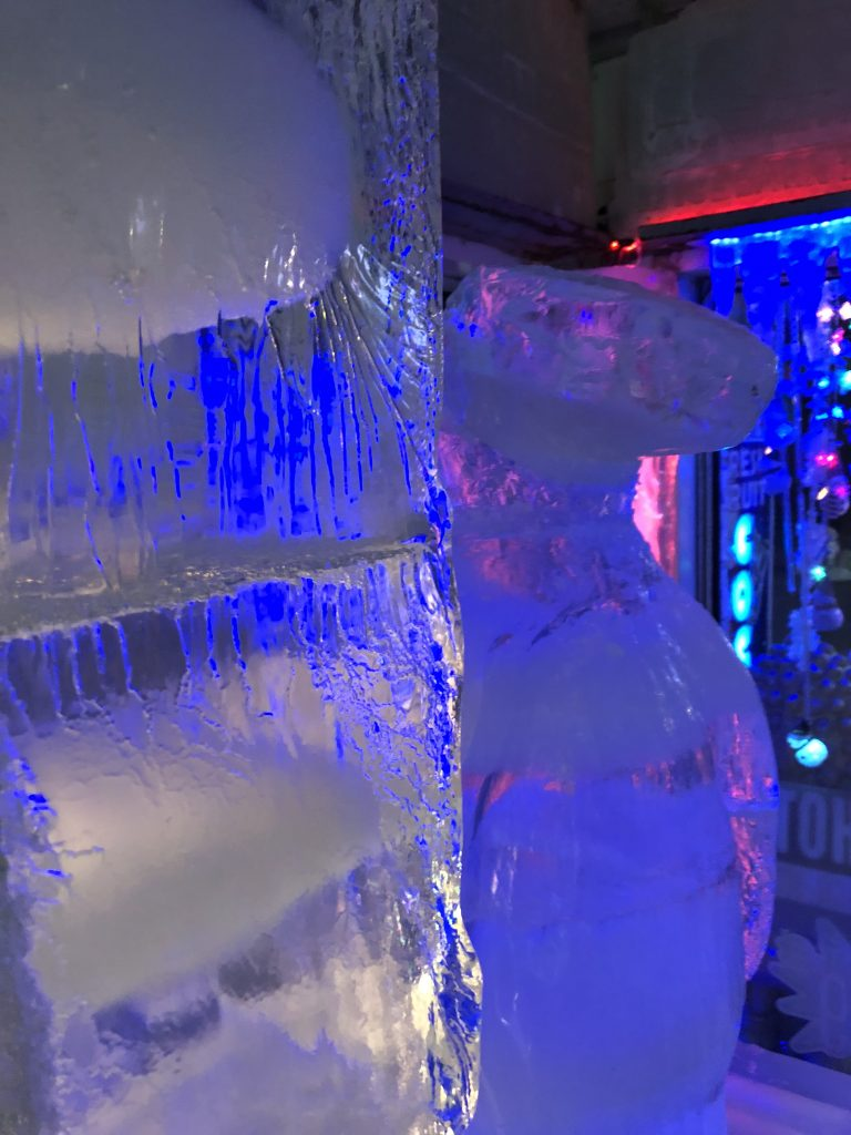 Ice statues in VO2 Ice Bar