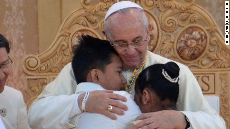 The pope heads to the Philippines