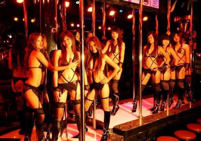 Several girls ready to go at Angelwitch Nana, Bangkok